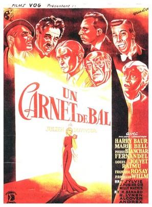 Un carnet de bal - French Movie Poster (thumbnail)