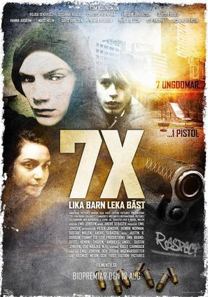 7X: Lika barn leka bäst - Swedish Movie Poster (thumbnail)