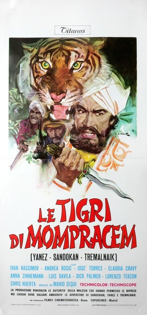 Le tigri di Mompracem - Italian Movie Poster (thumbnail)