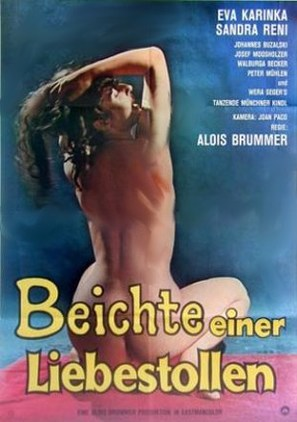 Beichte einer Liebestollen - German Movie Poster (thumbnail)