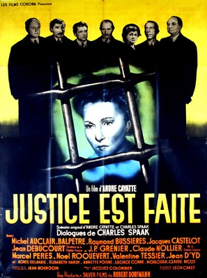 Justice est faite - French Movie Poster (thumbnail)