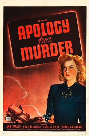 Apology for Murder - Movie Poster (thumbnail)
