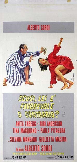 Scusi, lei è favorevole o contrario? - Italian Movie Poster (thumbnail)