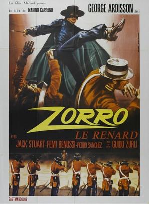 El Zorro - French Movie Poster (thumbnail)