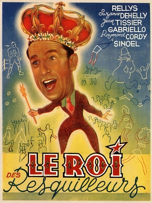 Le roi des resquilleurs - French Movie Poster (thumbnail)