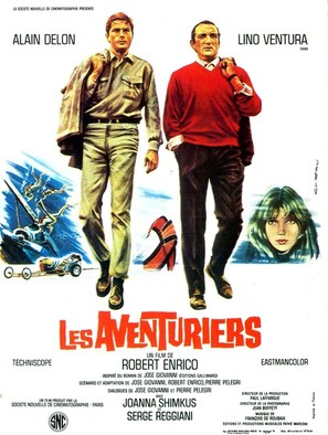 Les aventuriers - French Movie Poster (thumbnail)
