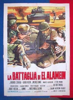 Battaglia di El Alamein, La - Italian Movie Poster (thumbnail)