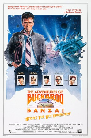 The Adventures of Buckaroo Banzai Across the 8th Dimension - Movie Poster (thumbnail)