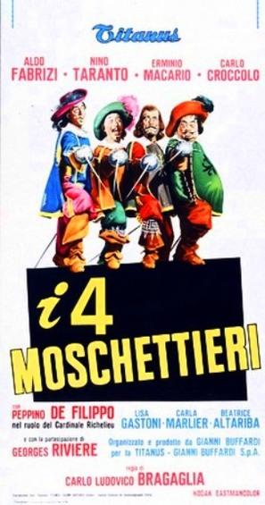 I quattro moschettieri - Italian Movie Poster (thumbnail)