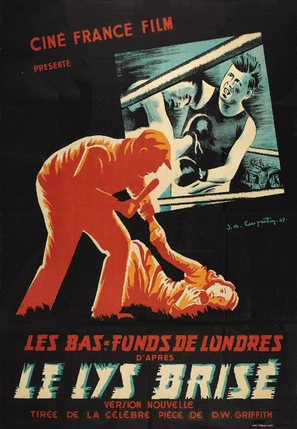 Broken Blossoms or The Yellow Man and the Girl - French Movie Poster (thumbnail)