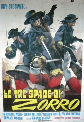 Le tre spade di Zorro - Italian Movie Poster (thumbnail)