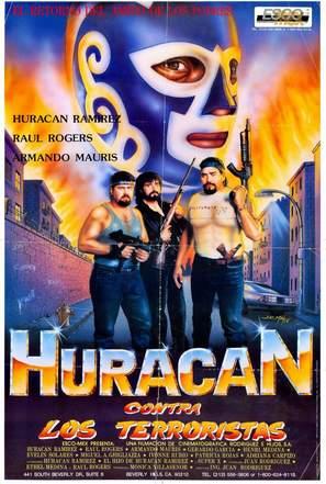 Huracán Ramírez contra los terroristas - Mexican Movie Poster (thumbnail)