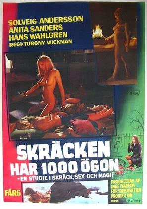 Skräcken har 1000 ögon - Swedish Movie Poster (thumbnail)