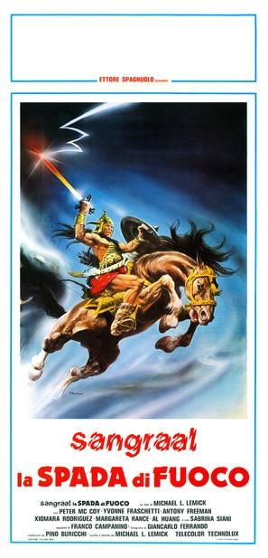 Sangraal, la spada di fuoco - Italian Movie Poster (thumbnail)