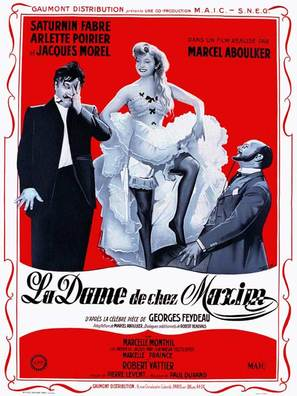 Dame de chez Maxim's, La - French Movie Poster (thumbnail)