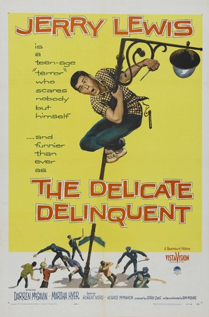 The Delicate Delinquent - Theatrical movie poster (thumbnail)
