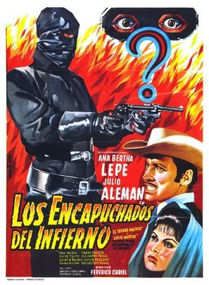 Los encapuchados del infierno - Mexican Movie Poster (thumbnail)