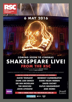 Shakespeare Live! From the RSC - Australian Movie Poster (thumbnail)
