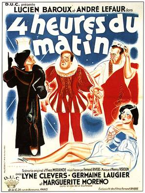 Quatre heures du matin - French Movie Poster (thumbnail)