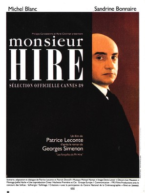 Monsieur Hire - French Movie Poster (thumbnail)