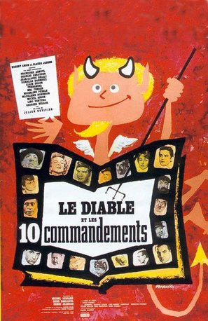 Le diable et les dix commandements - French Movie Poster (thumbnail)