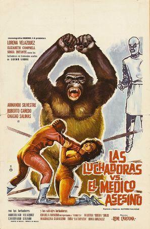 Las luchadoras contra el médico asesino - Mexican Movie Poster (thumbnail)