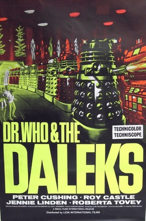 Dr. Who and the Daleks - British Movie Poster (thumbnail)
