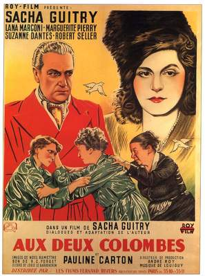 Aux deux colombes - French Movie Poster (thumbnail)