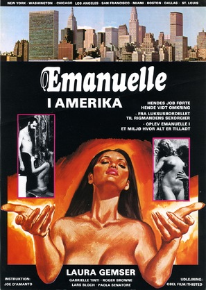 Emanuelle In America - Danish Movie Poster (thumbnail)