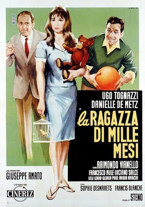 La ragazza di mille mesi - Italian Movie Poster (thumbnail)