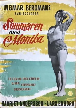Sommaren med Monika - Swedish Movie Poster (thumbnail)