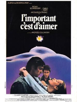 L'important c'est d'aimer - French Movie Poster (thumbnail)