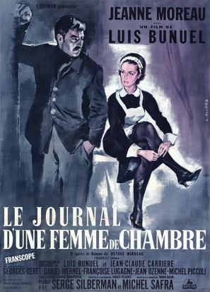 Le journal d'une femme de chambre - French Movie Poster (thumbnail)