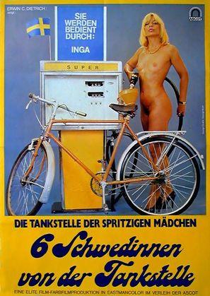 Sechs Schwedinnen von der Tankstelle - German Movie Poster (thumbnail)