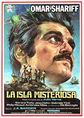Isla misteriosa y el capitán Nemo, La - Spanish Movie Poster (thumbnail)