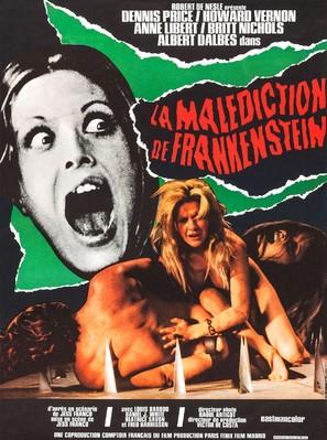 Les expériences érotiques de Frankenstein - French Movie Poster (thumbnail)