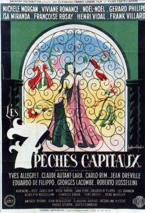 Sept pèchès capitaux, Les - French Movie Poster (thumbnail)