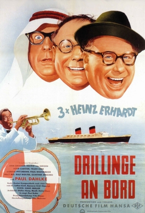 Drillinge an Bord - German Movie Poster (thumbnail)