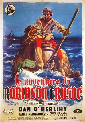 Robinson Crusoe - Italian Movie Poster (thumbnail)