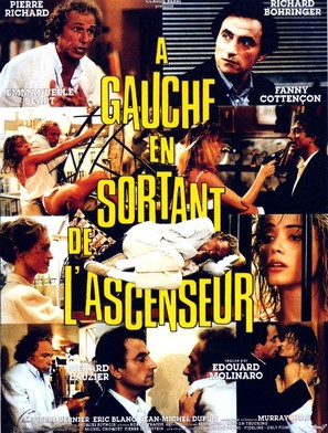 À gauche en sortant de l'ascenseur - French Movie Poster (thumbnail)