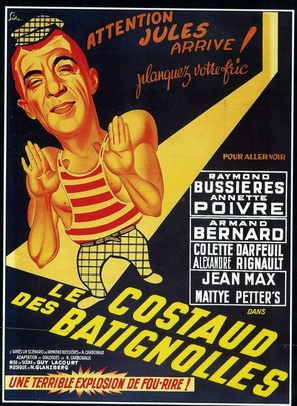 Le costaud des Batignolles - French Movie Poster (thumbnail)
