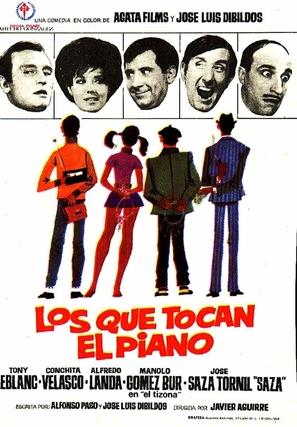 Los que tocan el piano - Spanish Movie Poster (thumbnail)