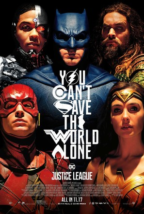 Justice League - Theatrical movie poster (thumbnail)