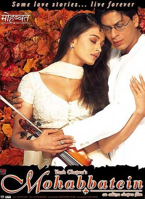Mohabbatein - Indian Movie Poster (thumbnail)