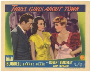 Three Girls About Town - Movie Poster (thumbnail)