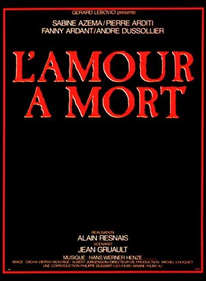 Amour à mort, L' - French Movie Poster (thumbnail)