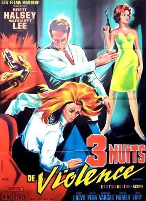 Tre notti violente - French Movie Poster (thumbnail)
