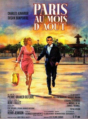 Paris au mois d'août - French Movie Poster (thumbnail)