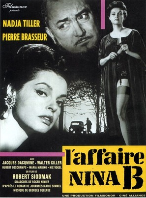 L'affaire Nina B. - French Movie Poster (thumbnail)