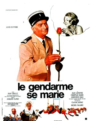 Le gendarme se marie - French Movie Poster (thumbnail)